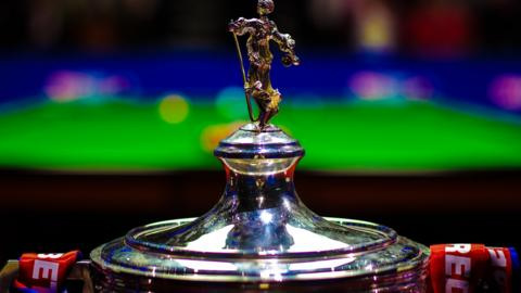 The World Snooker Championship trophy