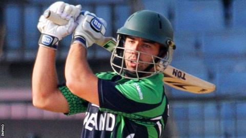 Stuart Thompson was the best of the Irish with the bat against Afghanistan in the first T20