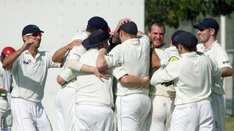 Ireland players celebrate a victory over Afghanistan in December 2013