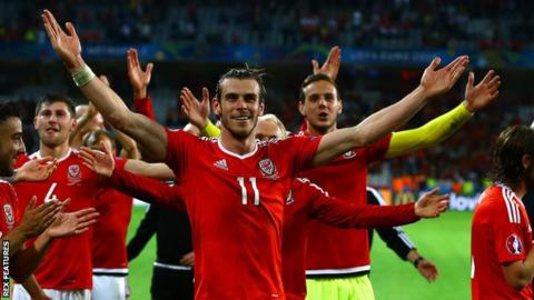 Gareth Bale and Wales celebrate