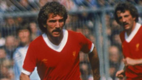 Graeme Souness playing for Liverpool