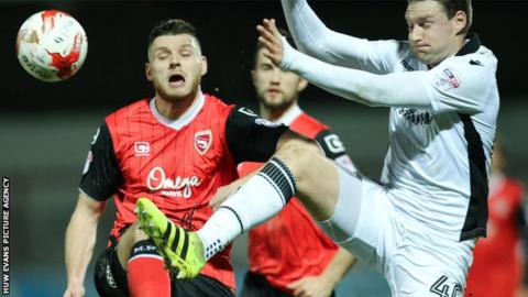 Ryan Bird in action against Morecambe