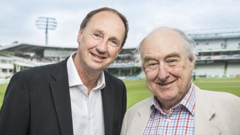 BBC Test Match Special's Jonathan Agnew and Henry Blofeld