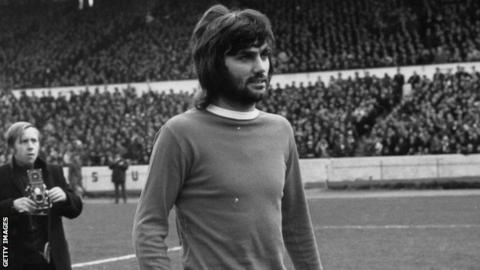 George Best in action for Manchester United