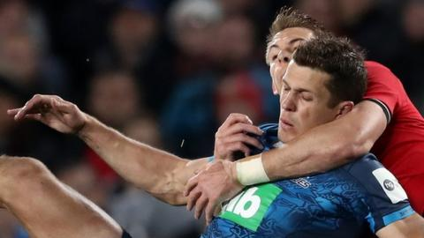 Liam Williams was sin-binned against Blues for a second illegal tackle