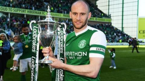 Hibernian captain David Gray