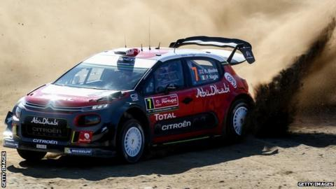 Tanak leads after wild end to Friday