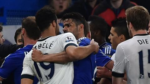Tottenham midfielder Mousa Dembele is facing a ban after his altercation with Diego Costa.