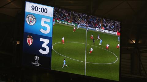 Manchester City v Monaco