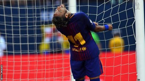 Neymar del Barcelona