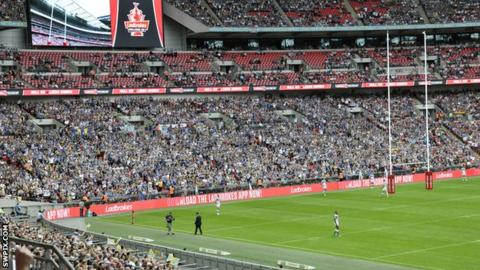 Wembley during the 2015 Challenge Cup final
