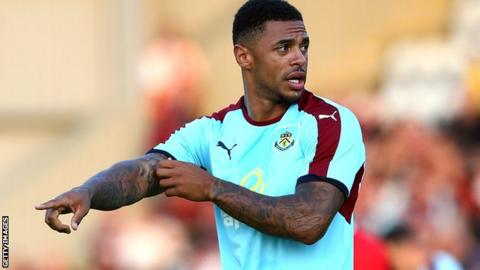 Burnley striker Andre Gray