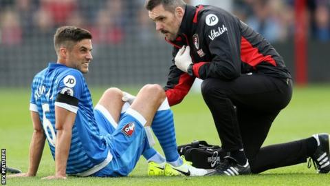 Andrew Surman treated for knee injury against Southampton
