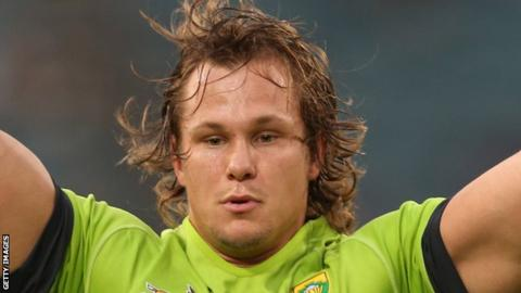 Arno Botha has won two caps for South Africa