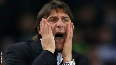 Conte criticises Chelsea players for loss of composure