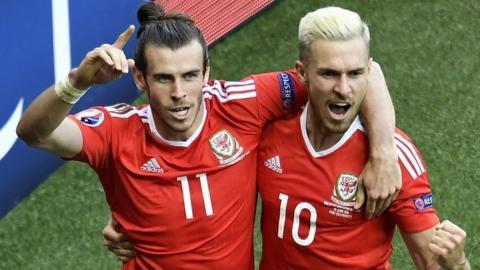 Gareth Bale and Aaron Ramsey