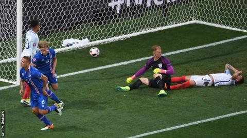 Iceland's first goal