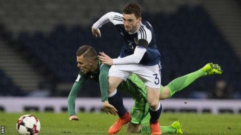 Hull defender Andrew Robertson was in fine form in the win over Slovenia