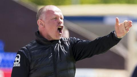 John Hughes makes a point to his players during his time as Inverness Caley Thistle manager