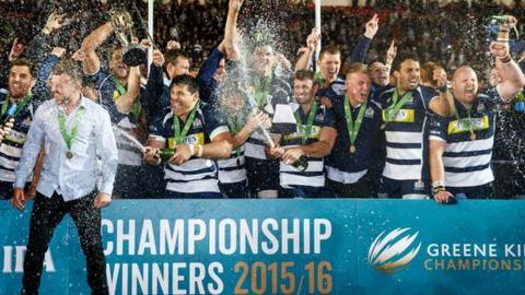 Bristol celebrated promotion last season