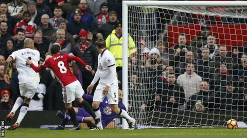 Juan Mata puts Manchester United ahead against Watford
