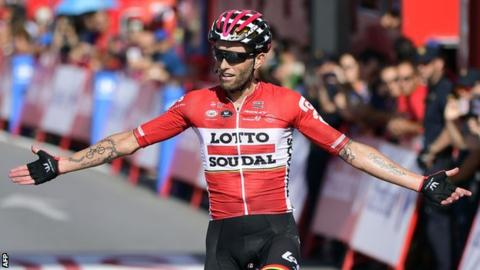 Trentin gets 3rd stage win at Vuelta, Froome keeps lead