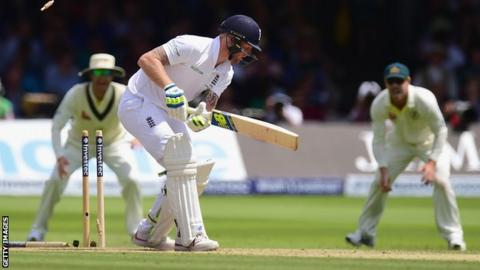Ben Stokes is bowled