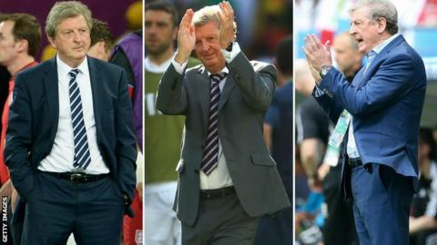 Roy Hodgson at Euro 2012, the World Cup in 2014, and Euro 2016