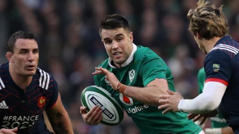 Ireland against France in the Six Nations