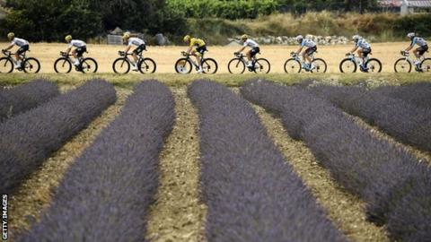 Chris Froome and Team Sky during the Tour de France