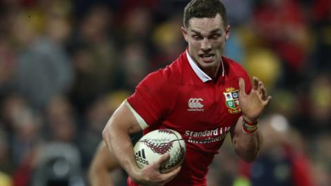 George North runs with the ball