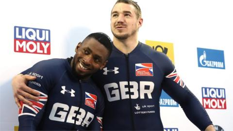 Bruce Tasker and Joel Fearon of Great Britain