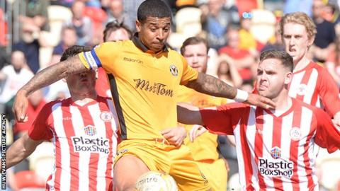 Joss Labadie in action against Accrington Stanley