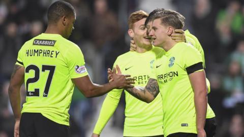 Hibernian crushed Bonnyrigg Rose at Tynecastle