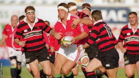 Simon Shaw plays for the 1997 Lions