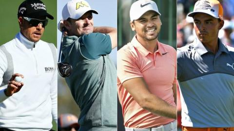Henrik Stenson, Justin Rose, Jason Day and Rickie Fowler