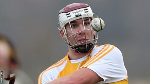 Conor Carson's goal helped Antrim earn a comeback victory over Down at Loughgiel