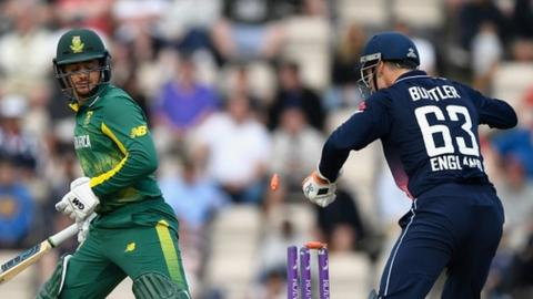 England dismiss De Kock