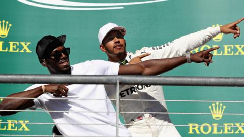 Usain Bolt and Lewis Hamilton