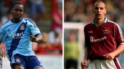 Leo Chambers and Rio Ferdinand