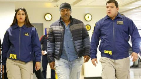 Mike Tyson denied entry into Chile due to criminal record