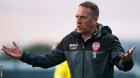 Derry City manager Kenny Shiels during Friday's game against Bray Wanderers