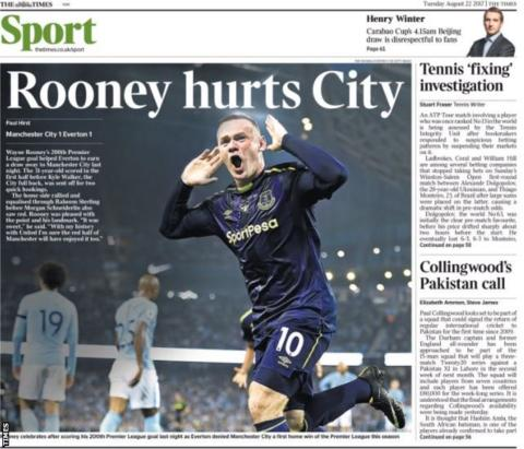 The Times sports section