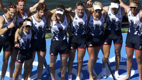 GB men's eight win Olympic gold in Rio