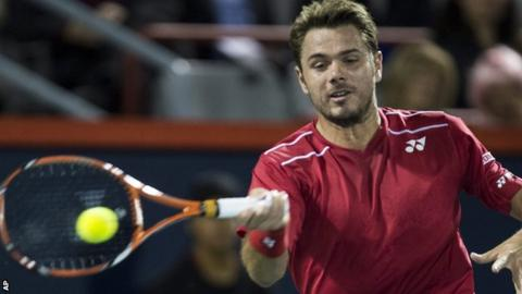 Stan Wawrinka in action in Montreal
