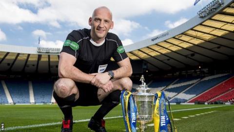 Scottish Cup final referee Bobby Madden