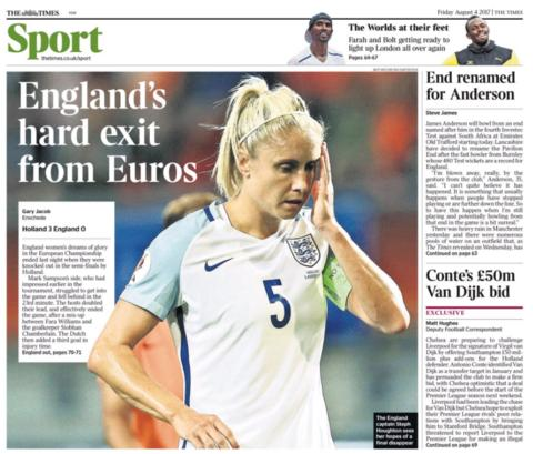 The Times' back page on Friday