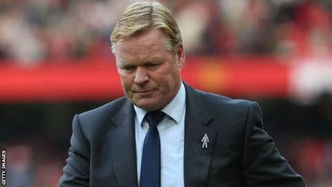 Image result for Everton sack manager Ronald Koeman
