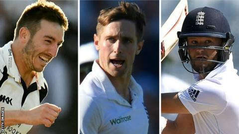 Ben Duckett, Chris Woakes and Toby Roland-Jones