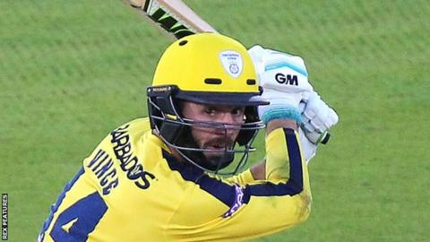 Hampshire and England batsman James Vince